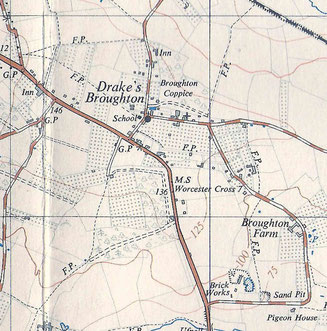 Map of Drakes Broughton