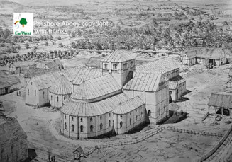 Artist's impression of the Norman monastery