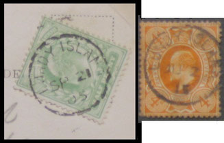 Lundy Island Cancels of 1905 and 1915