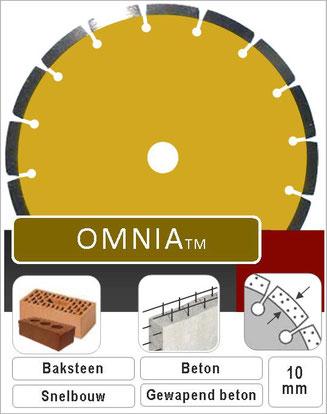 prodito omnia zaagbladen voor universeel gebruik in de bouwsector met 10mm laser gelast segment en premium diamant andere benaming voor dit product is slijpschijf 230
