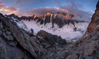 Aiguille d'Argentière, Jardingrat, arete du Jardin, Jardin ridge, Trient, Refuge d' Argentière, Mont Blanc
