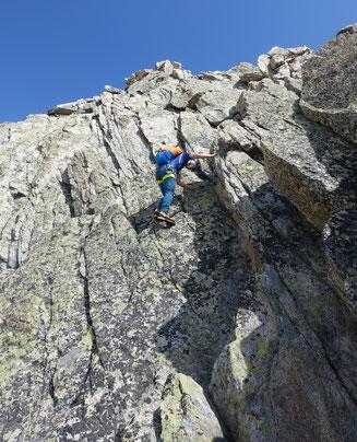 Hiendertelltihorn Ostgrat, Ostsporn, Touren Gruebenkessel, Gruebenhütte, Gruebeseewli
