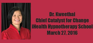 Dr. Kweethai, Chief Catalyst for Change