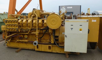 Landed Gas generator set CAT 3516 Caterpillar - Lamy Power special deal