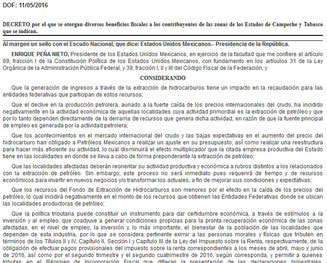 Click  en imagen para poder ver  completo el decreto publicado el día 11 de mayo del 2016.