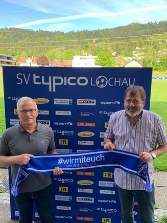 Peter Sallmayer (links) mit SVL-Sportvorstand Egon Haag