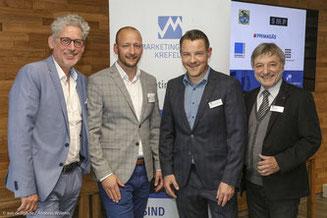 v.l.: Lutz Gottschalk, Jörg Somborn, Michael Neppeßen, Dr. Ralph Reiber
