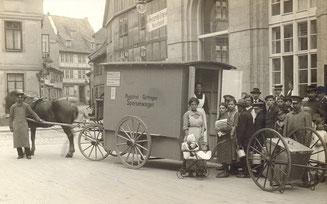 Fahrbare Volksküche. Der Wagen kam bereits im Krieg zum Einsatz. Städtisches Museum Göttingen
