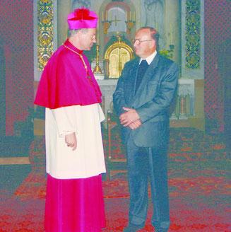Pfarrer Nebenführ und Kardinal Christoph Schönborn