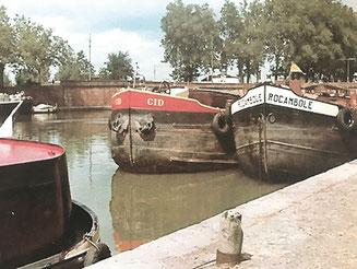 Le « Cid » et le « Rocambole », la flotte familiale fièrement amarrée et qui sera bientôt complétée par le « La Réole ».
