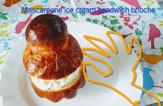 mascarpone ice cream sandwich brioche