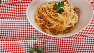 Mascarpone Lemon Pasta