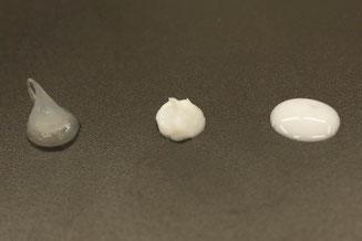 左から軟膏、クリーム、ローションです。