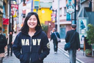 "Miri Hachimura wears ""YOKOSUKA NAVY PARKA"""