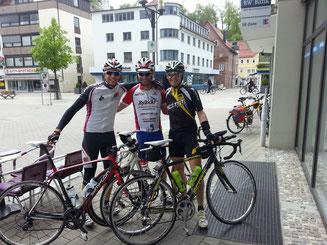 Ich, Christian und Stefan nach der Kaffeepause in Heidenheim