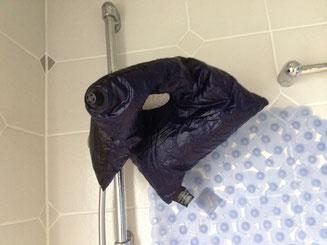 Reise-Kissen Kopfkissen aufgeblasen waschen