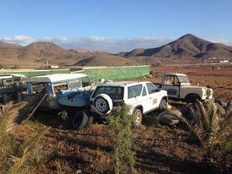 Fuerteventura Wüste Landrover Autos Abenteuer