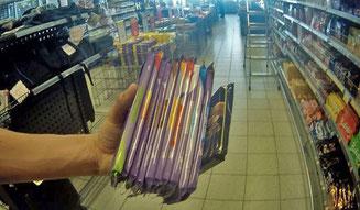 Einkaufen Supermarkt Zams Wenns Alpen Österreich E5 Schokolade Milka Rittersport