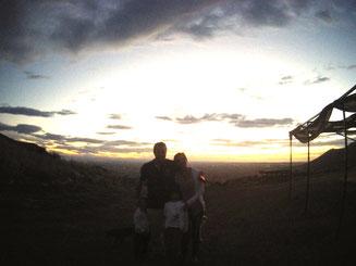 Sonnenuntergang Familie Italien Nationalpark Gargano