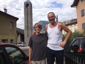 Couchsurfing Gast mit Gastgeber Italien