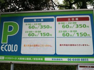 お花見バーベキュー時期の大阪城公園内駐車場は常に満車状態