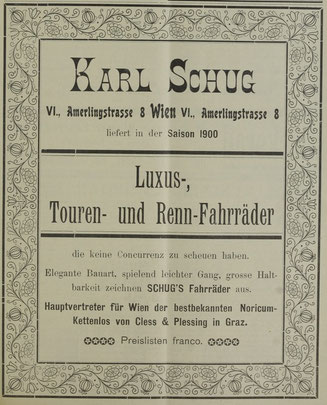 Quelle: Österr. Nationalbibliothek, Radfahr-Sport, 16. Februar 1900