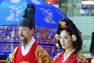 Traditional Korean couple