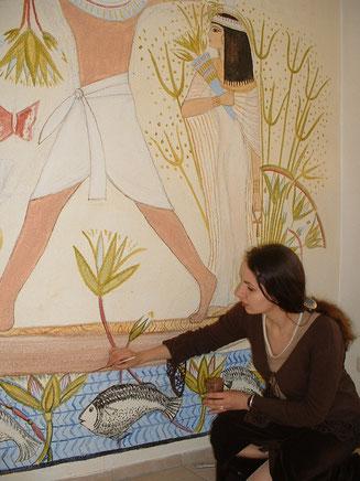 ägyptische Wandmalerei in Duisburg, Foto: Birgit Fiolka