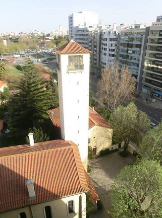 Unsere Kirche aus der Vogelperspektive