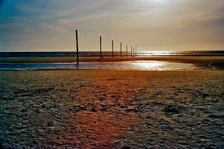 der Strand bei Ebbe