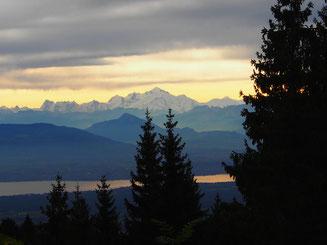 Genfer See im Morgenlicht