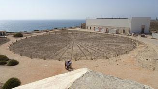 La rosa dei venti all'interno della fortezza di Sagres
