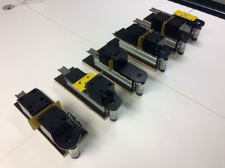 Testing rigs for individual testing of each connector