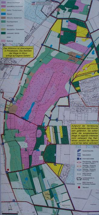 Bild: Karte vom Naturschutzgebiet Wettmoor