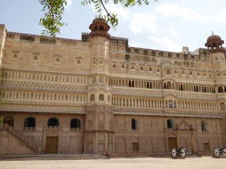 Bild: Stadtpalast von Bikaner in Rajasthan, Indien