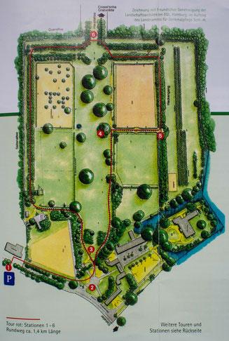 Bild: Karte Barockgarten Jersbek