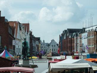 Bild: Marktplatz von Husum