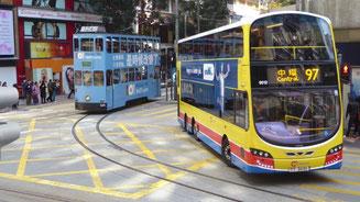 Bild: Nahverkehrsmittel in Hongkong
