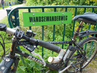 Bild: Schild Wandsewanderweg
