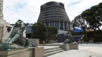 Bild: Regierung- und Parlamentssitz der Hauptstadt Wellington
