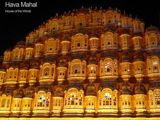 Bild: Hava Mahal in Jaipur, Rajasthan