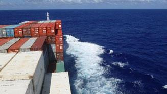 Bild: Nach dem Panamakanal gehts auf nach Neuseeland mit dem Frachter