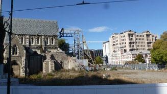 Bild: Gebäude in Christchurch / Neuseeland