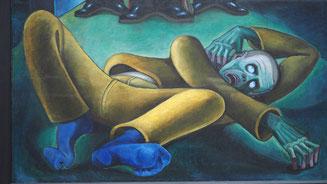 """Bild: Hermann Abeking """"Unter Stiefeln"""" von 1928"""