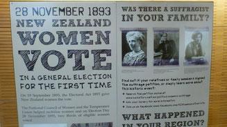 Bild: Frauenwahlrecht in Neuseeland