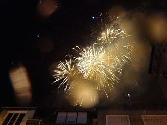 Das obligatorische Feuerwerk des Abends
