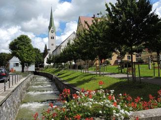 Der gezähmte Hausbach in Weiler.