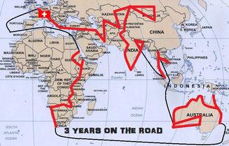 Gefahrene Route in den letzten 3 Jahren.