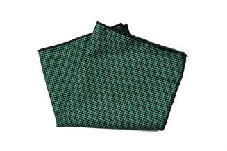 Einstecktuch grün schwarz elegant kariert
