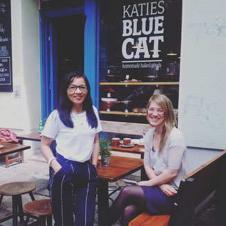 Ngoc and Olivia from cafe Katies Blue Cat